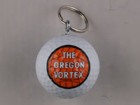 Oregon Vortex Golf Ball Keychain